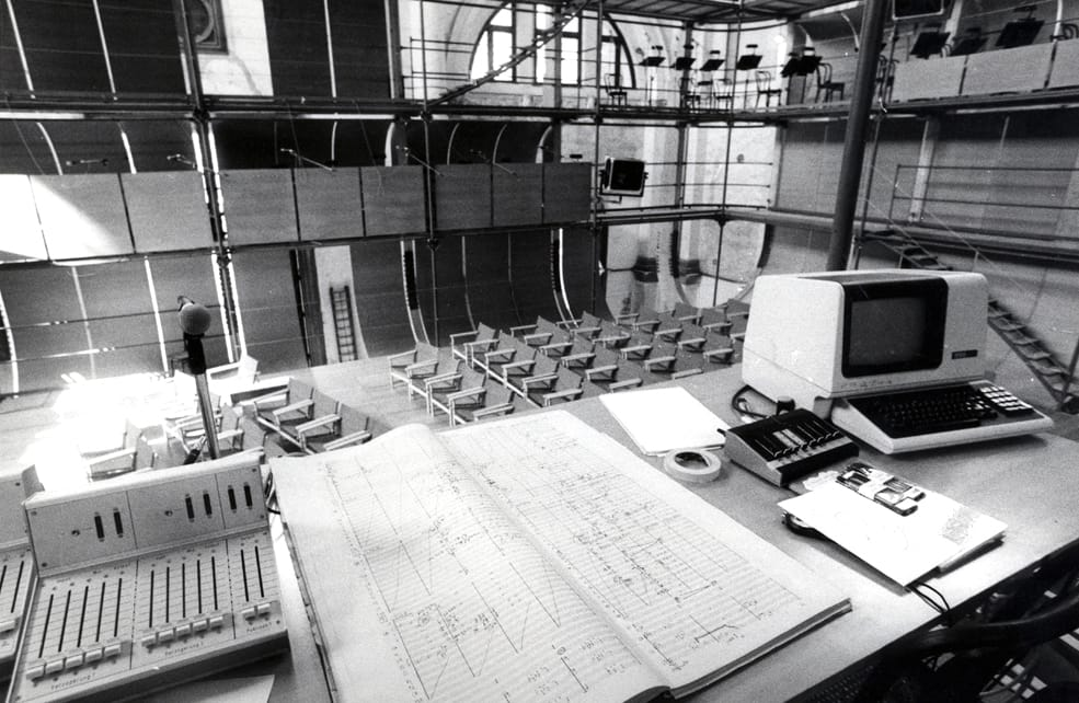 """The set up for the """"Prometeo"""""""